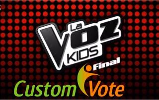 Votación programa de televisión de voz kids con la votación interactiva de customvote