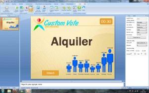 alquiler de sistema de votación interactiva