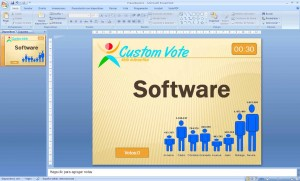 Software sintema de votacion interactiva customvote