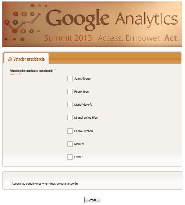 Votación online comité de empresa google