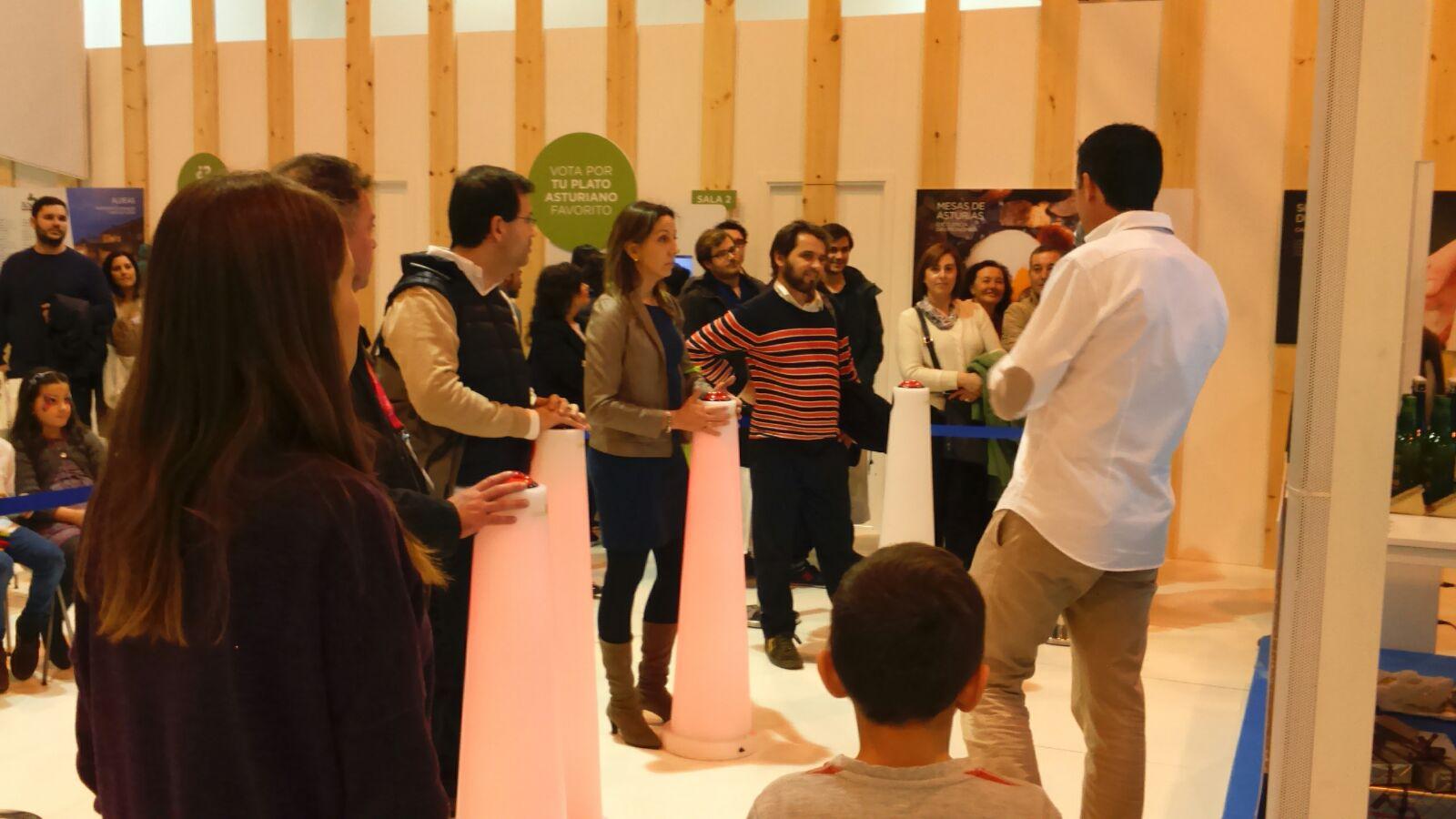 Pulsadores de pie concurso para stand de Asturias en FITUR